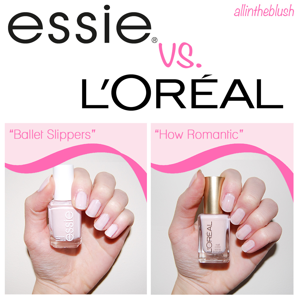 Dupe: Essie Ballet Slippers VS. L\'Oreal How Romantic Nail Polish ...