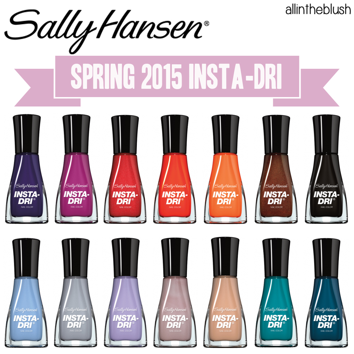 sally hansen insta dri spring 2015 nail colors all in the blush