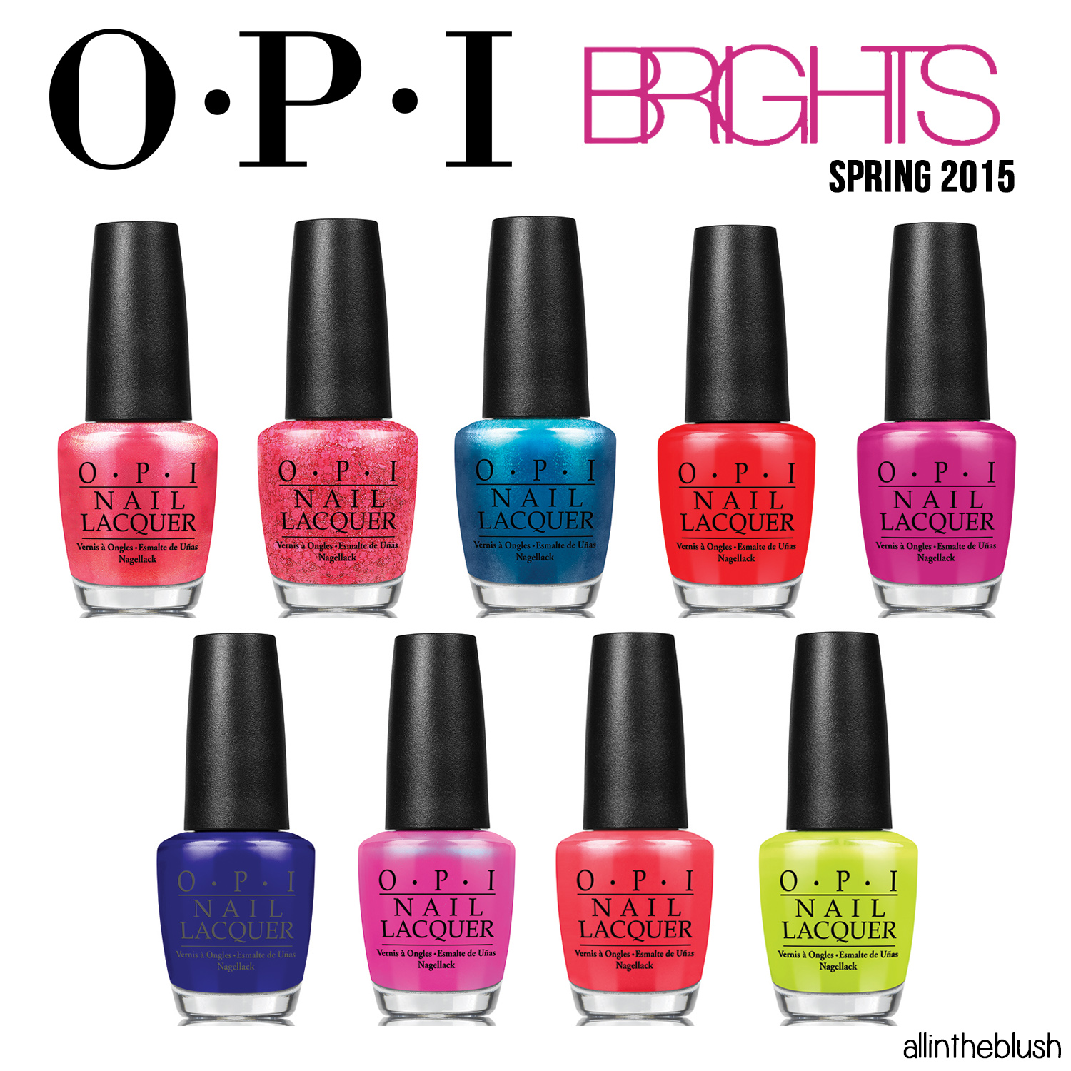 opi brights 2015 collection - review & swatches - all in the blush