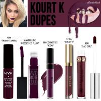 Kylie Cosmetics Kourt K Lipkit Dupes