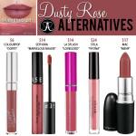 Anastasia Beverly Hills Dusty Rose Liquid Lipstick Dupes