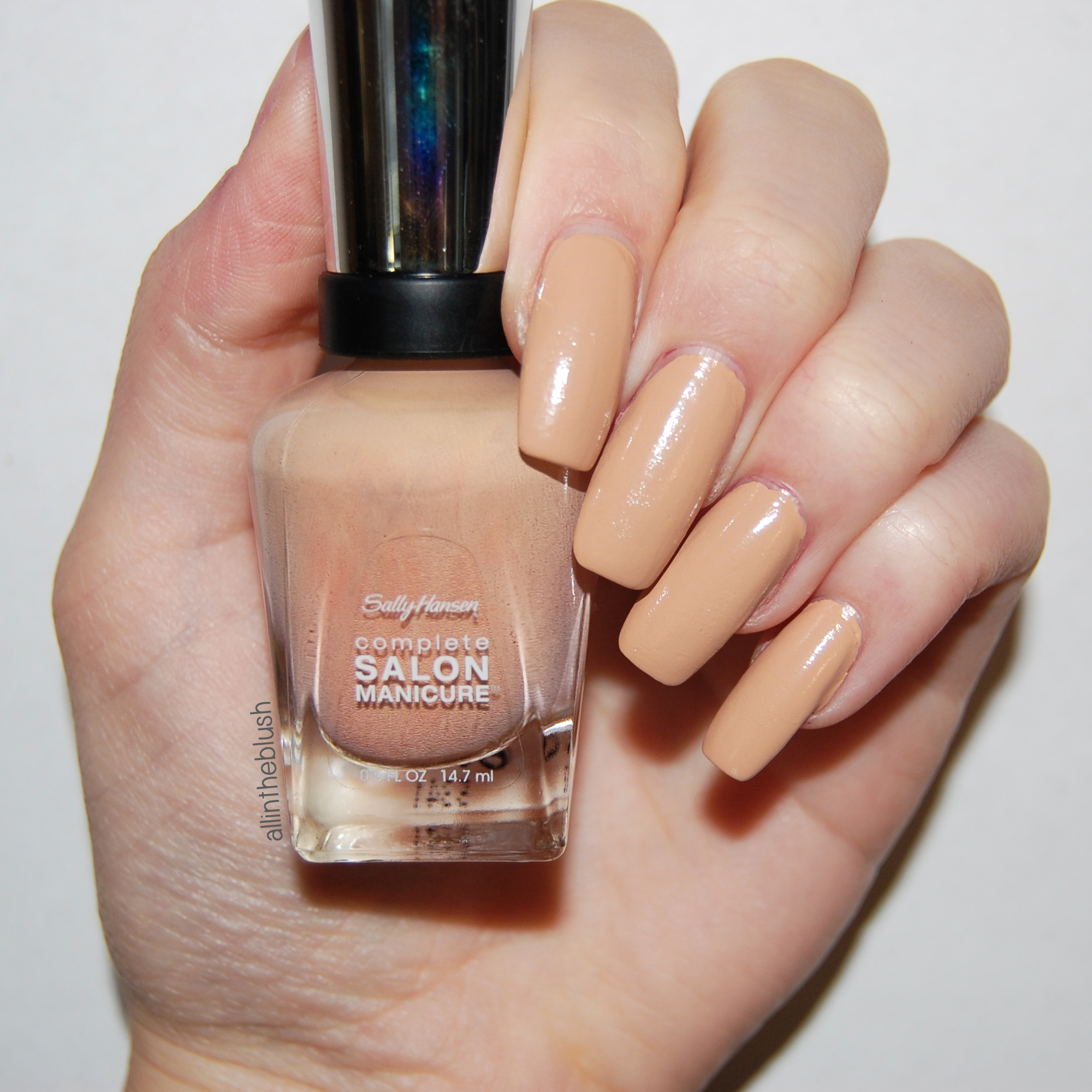 Review: Sally Hansen Camelflage Nail Polish - All In The Blush