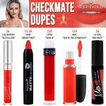 Jeffree Star Checkmate Velour Liquid Lipstick Dupes
