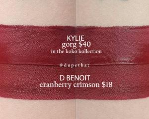 Kylie Cosmetics Gorg Mini Matte Liquid Lipstick Dupes [20th Birthday Collection]