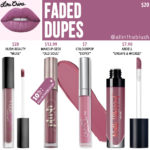 Lime Crime Faded Velvetine Liquid Lipstick Dupes