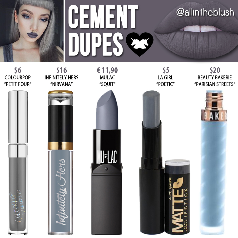 Lime Crime Cement Dupes