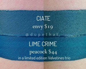 Lime Crime Peacock Dupes