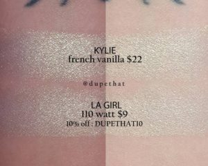 Kylie Cosmetics French Vanilla Kylighter Dupes All In The Blush