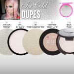 Jeffree Star Cosmetics Ice Cold Skin Frost Dupes
