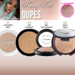 Jeffree Star Cosmetics King Tut Skin Frost Dupes