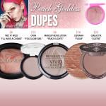 Jeffree Star Cosmetics Peach Goddess Skin Frost Dupes
