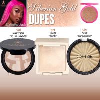 Jeffree Star Cosmetics Siberian Gold Skin Frost Dupes