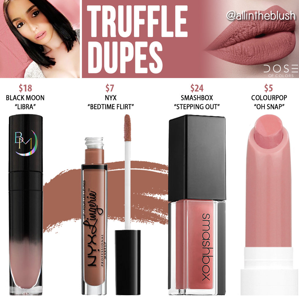 Dose of Colors Truffle Liquid Lipstick Dupes - All In The Blush