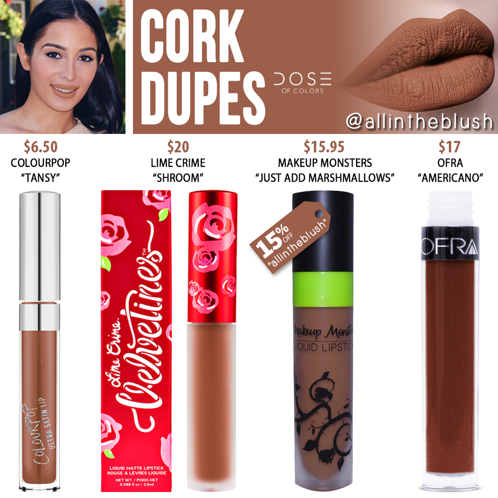 Dose of Colors Cork Liquid Lipstick Dupes - All In The Blush