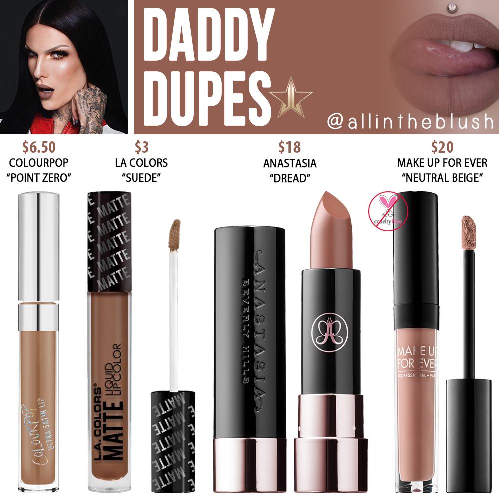 8272c35dd0f Jeffree Star Daddy Velour Liquid Lipstick Dupes [Manny MUA x Jeffree Star  Collab]