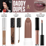 Jeffree Star Daddy Velour Liquid Lipstick Dupes [Manny MUA x Jeffree Star Collab]