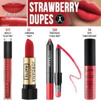 Anastasia Beverly Hills Strawberry Liquid Lipstick Dupes