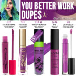 Jeffree Star You Better Work Velour Liquid Lipstick Dupes