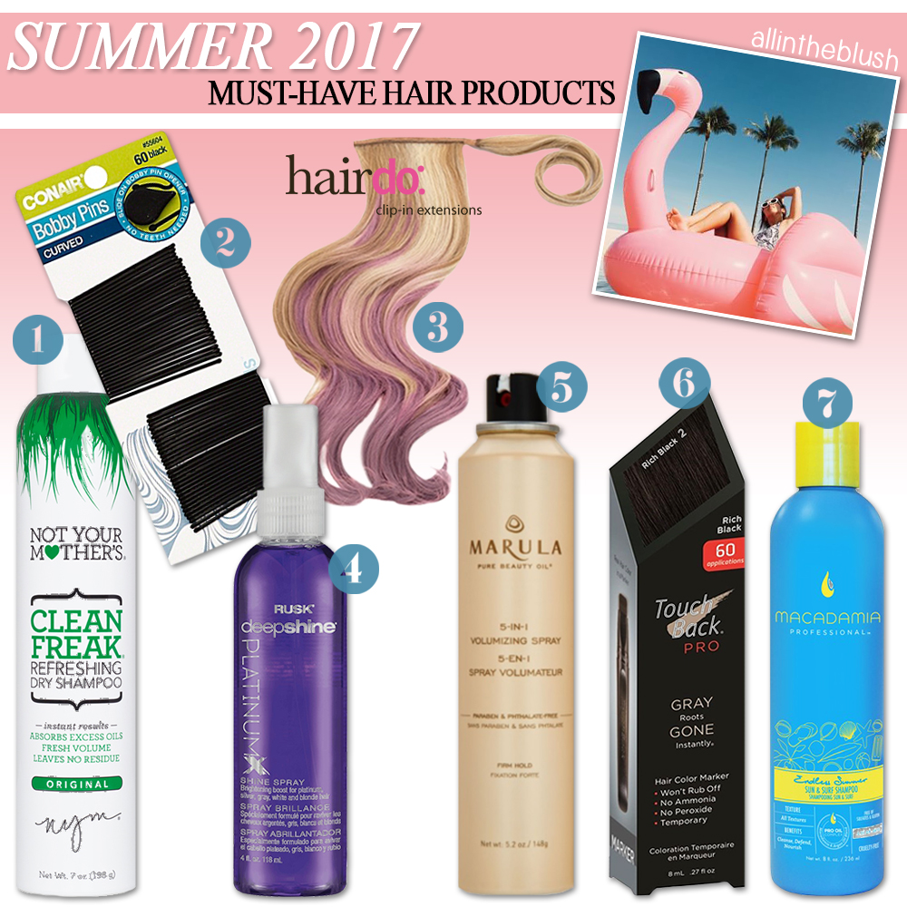 7 Must Have Hair Products For Summer 2017 All In The Blush