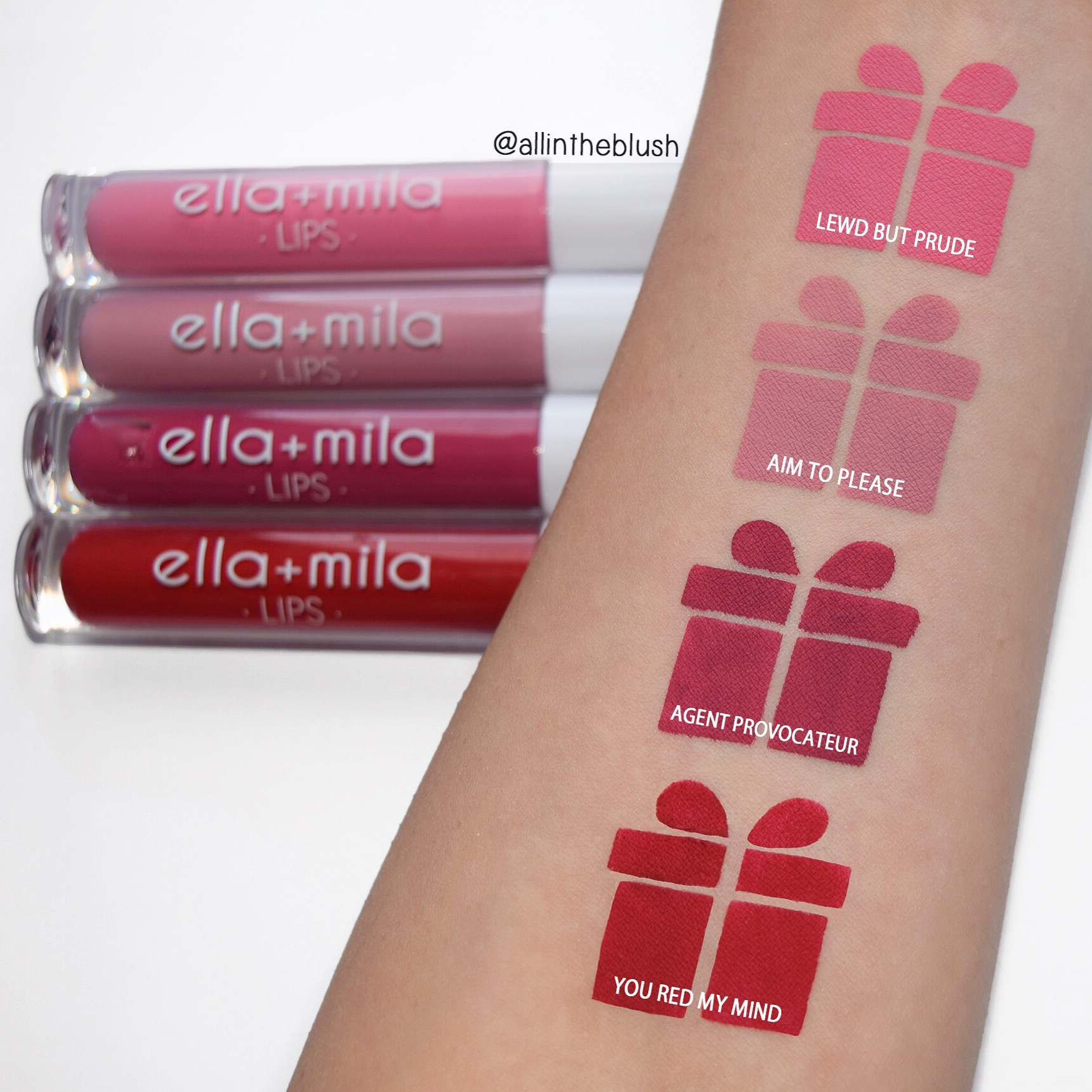 Ella + Mila Velvet Matte Liquid Lipstick Swatches