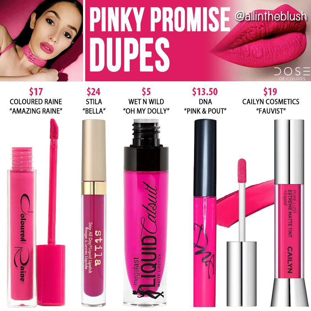 Dose of Colors Pinky Promise Liquid Lipstick Dupes - All In