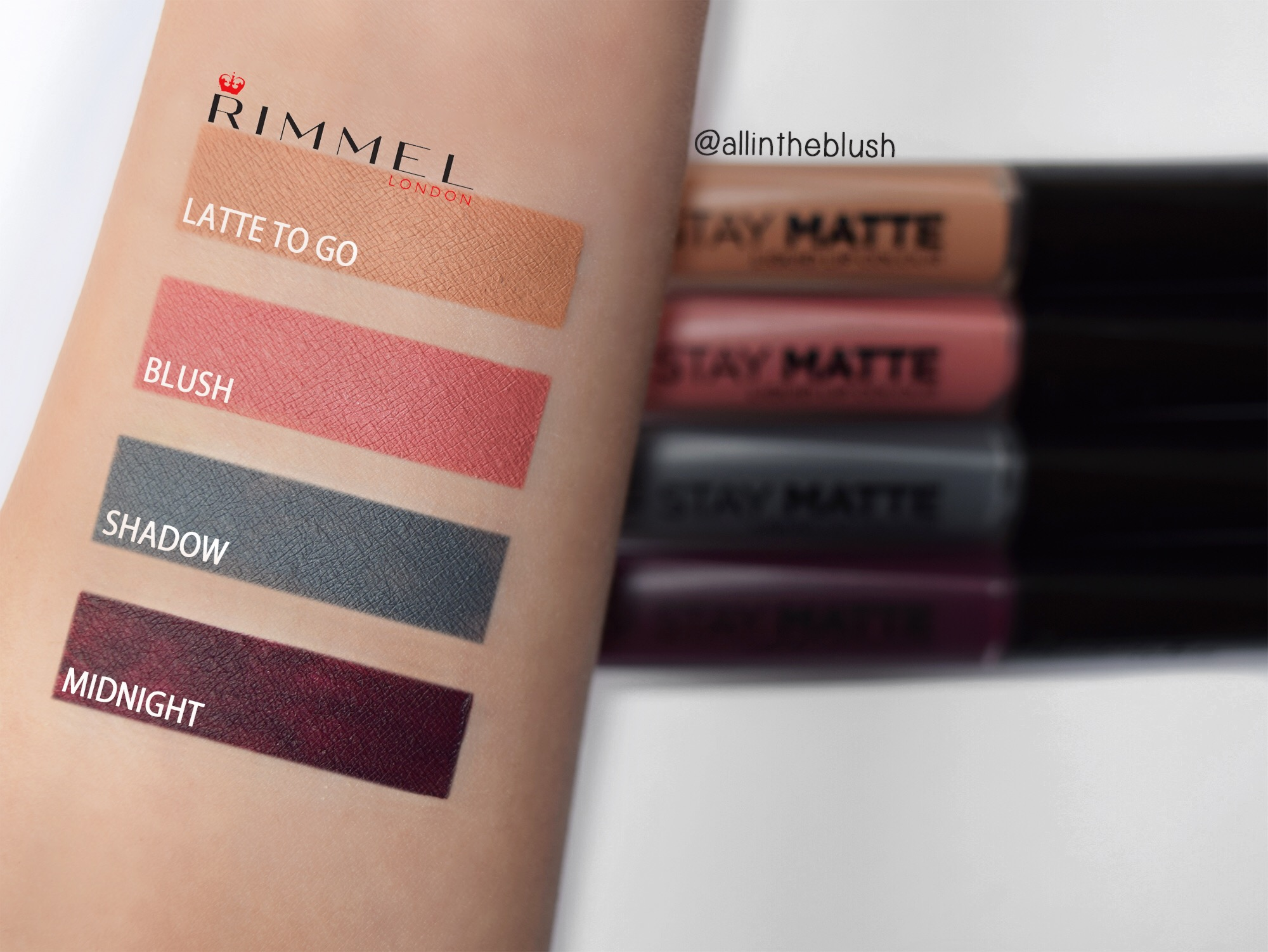 42e9d380a3e Review: Rimmel London Stay Matte Liquid Lip Colour - All In The Blush