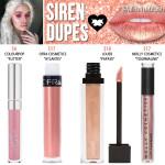 Lime Crime Siren Velvetine Liquid Lipstick Dupes