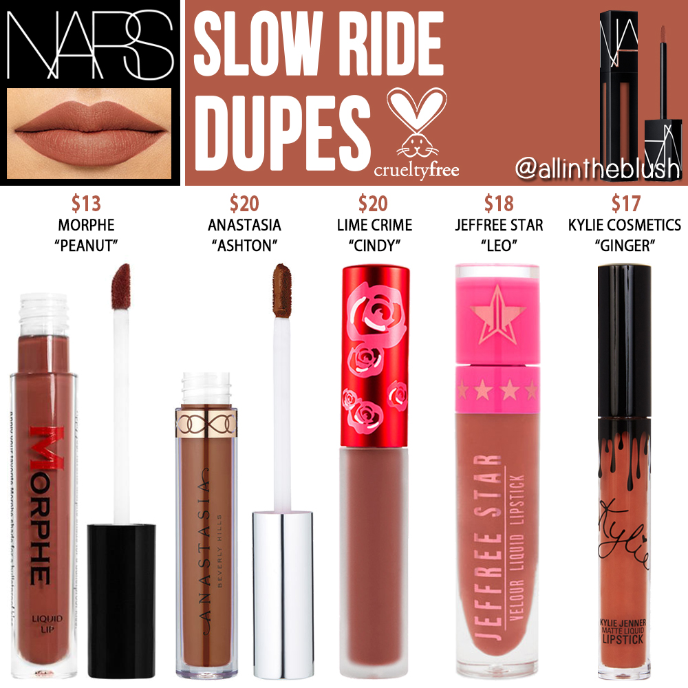 Nars Slow Ride Powermatte Lip Pigment Cruelty Dupes