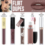 Huda Beauty Flirt Liquid Matte Lipstick Dupes