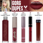 Kylie Cosmetics Gorg Mini Matte Liquid Lipstick Dupes [20th Birthday Collection]