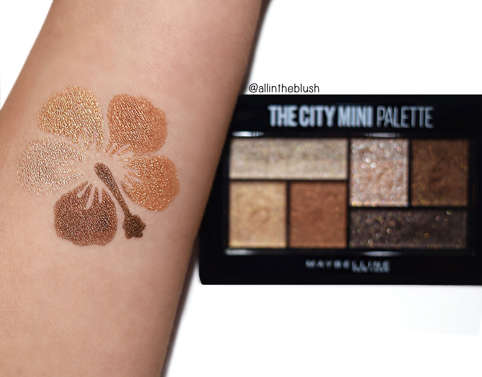 Maybelline The City Mini Palette Rooftop Bronzes Swatches
