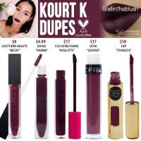 Kylie Cosmetics Kourt K Liquid Lipstick Dupes