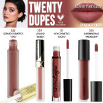 Kylie Cosmetics Twenty Lip Kit Dupes [20th Birthday Collection]