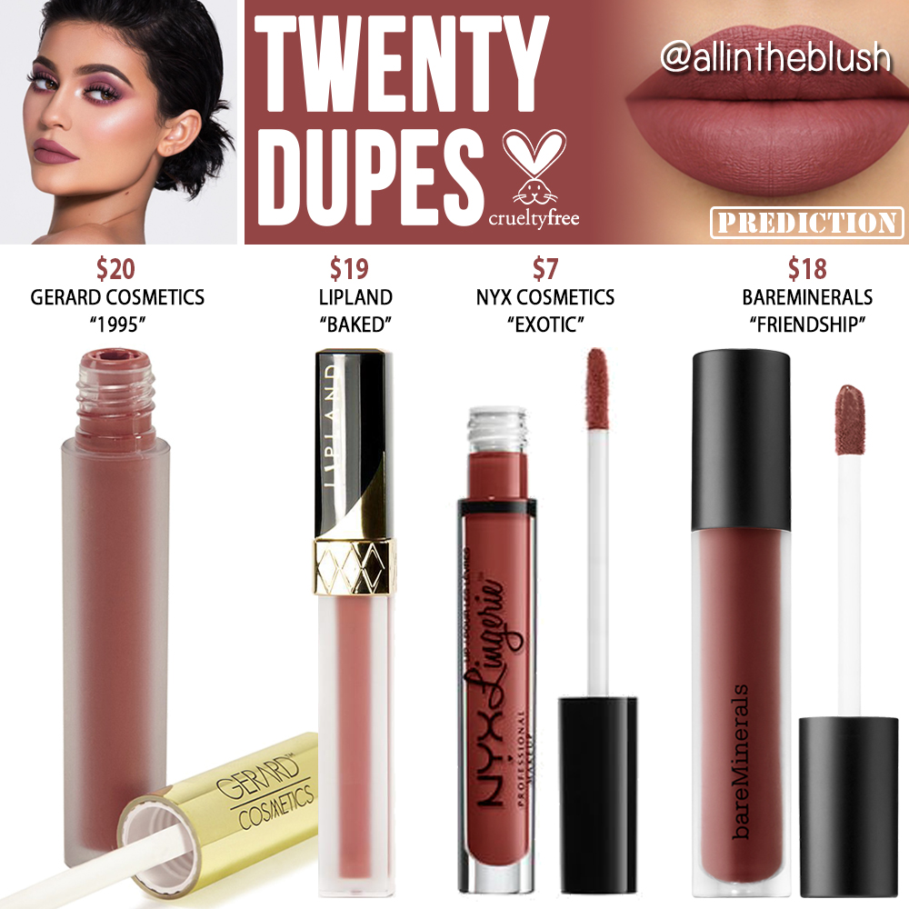 Kylie Cosmetics Exposed Liquid Lipstick Dupes - All In The