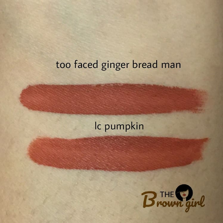 Melted Matte Gingerbread Girl Lipstick by Too Faced #6