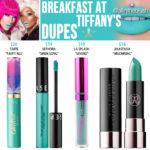 Jeffree Star Breakfast at Tiffany's Velour Liquid Lipstick Dupes
