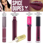 Kylie Cosmetics Spice Liquid Lipstick Dupes