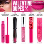 Kylie Cosmetics Valentine Liquid Lipstick Dupes