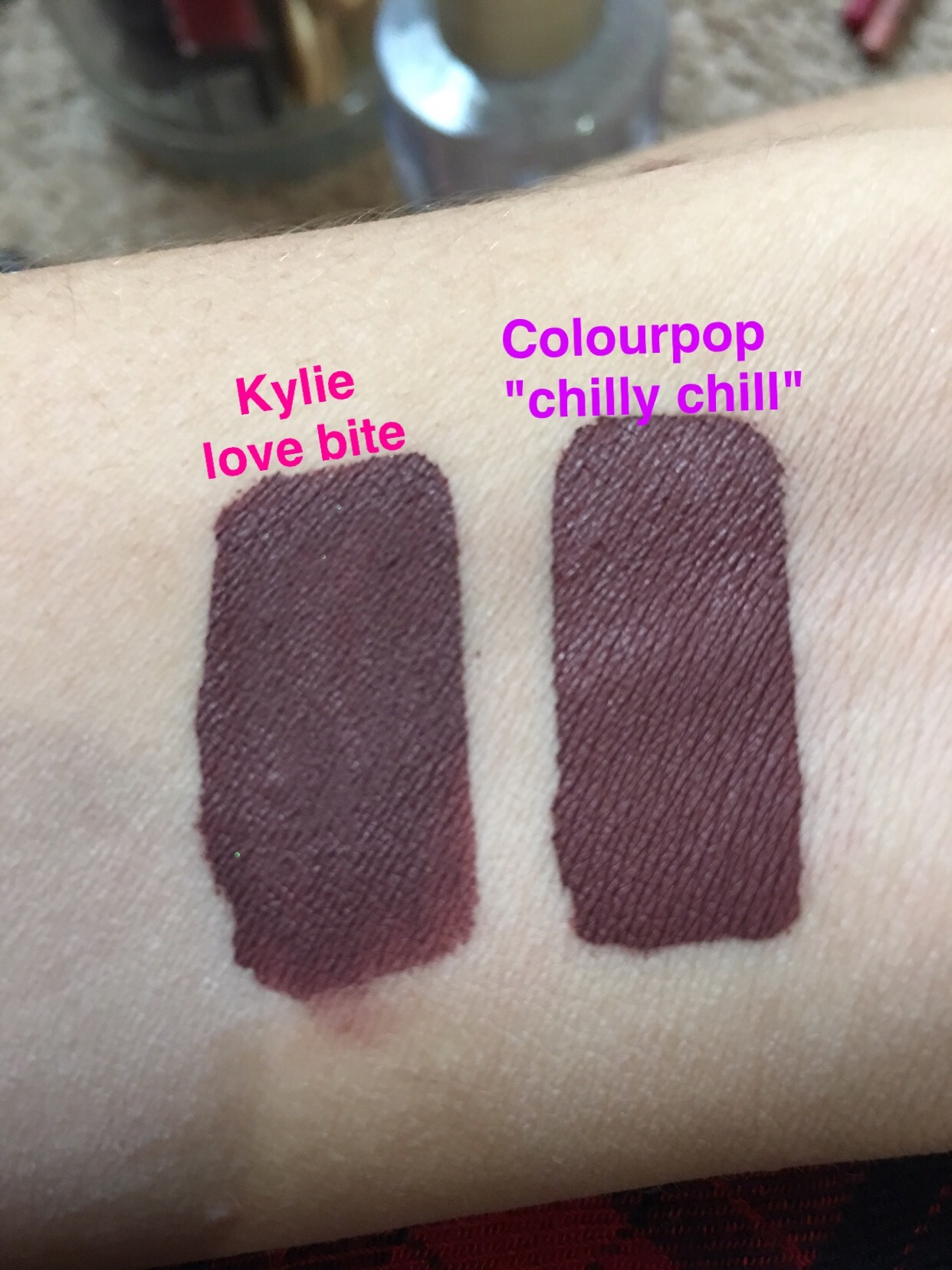 Kylie Cosmetics Love Bite Liquid Lipstick Dupes