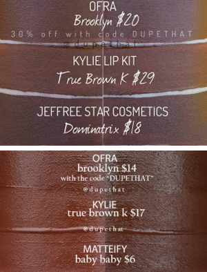 Jeffree Star Dominatrix Velour Liquid Lipstick Dupes ($10 & Under)