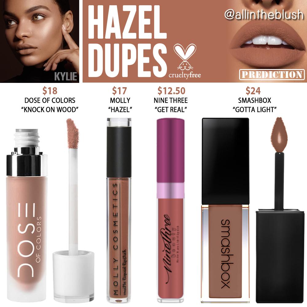 Cosmetics: Kylie Cosmetics Hazel Liquid Lipstick Prediction Dupes