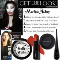Morticia Addams Halloween Makeup How-To
