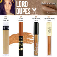 Kylie Cosmetics Lord Liquid Lipstick Dupes