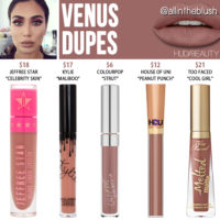 Huda Beauty Venus Liquid Matte Lipstick Dupes