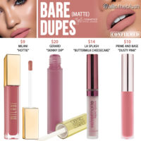 Kylie Cosmetics Bare Matte Liquid Lipstick Dupes [Vacation Edition]