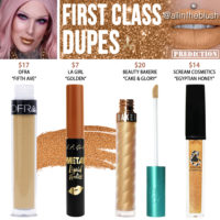 Jeffree Star First Class Velour Liquid Lipstick Dupes