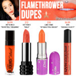 Jeffree Star Flamethrower Velour Liquid Lipstick Dupes