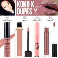 Kylie Cosmetics Koko K Lip Gloss Dupes