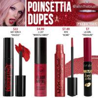 Jeffree Star Poinsettia Velour Liquid Lipstick Prediction Dupes