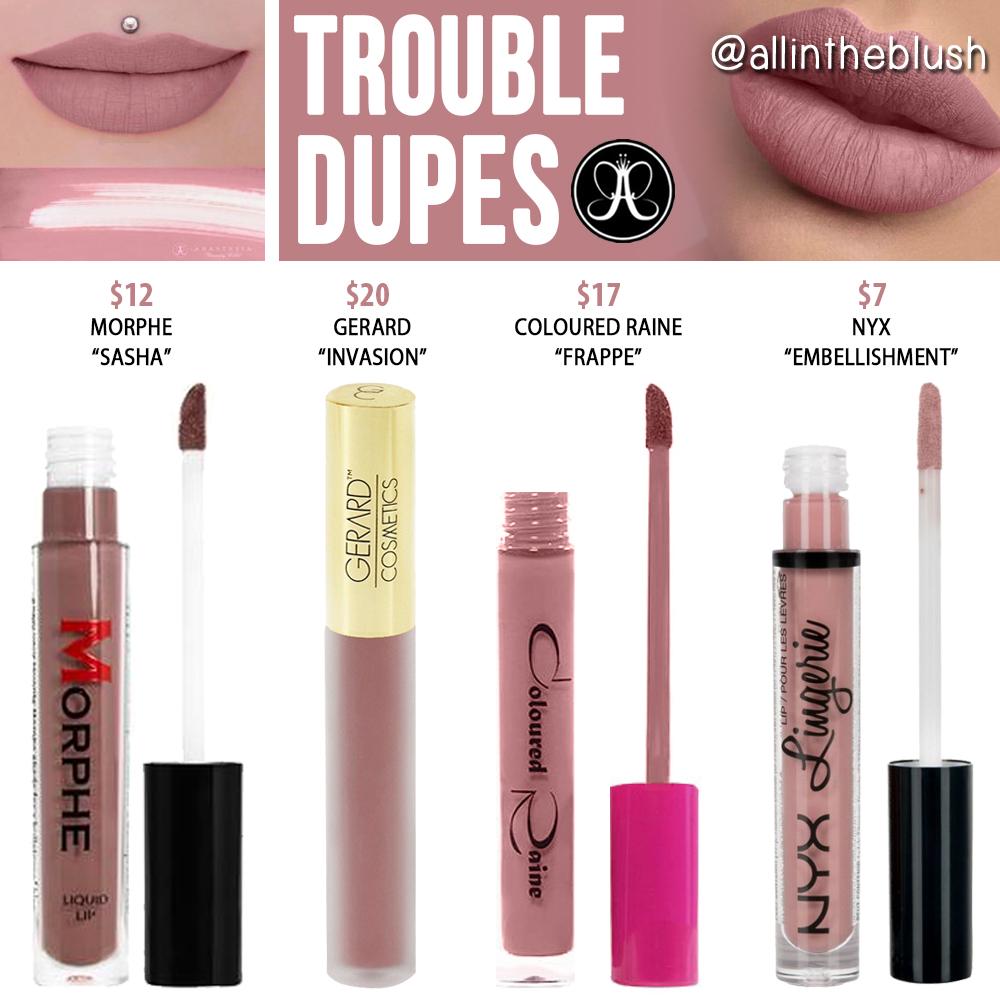 Anastasia Beverly Hills Sugar Plum Liquid Lipstick Dupes